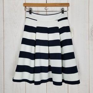 Altar'd State | Navy White Striped Skirt Career